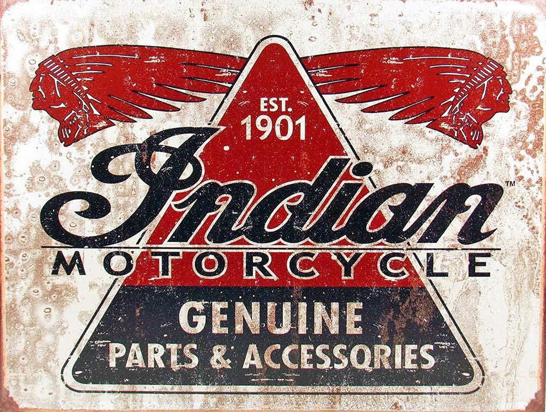 KELLEN WHITEHEAD Indian Motorcycles 1901 Style Metal Advertising Wall Sign Retro Art Affiche de d/écoration dr/ôle de Panneau de Mur en m/étal Art