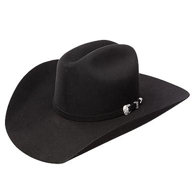 Amazon.com  Wrangler Northbrook Black Felt Western Cowboy Hat (7 3 8 ... 4de1286ac19e