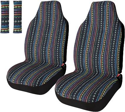 Copap Universal Stripe Front Seat Covers - Best Maintenance
