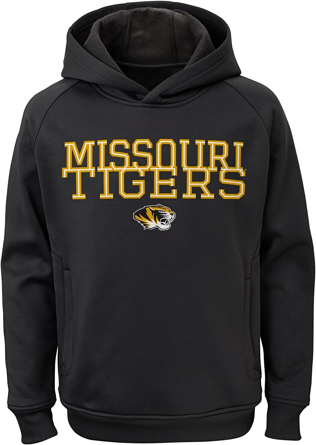 6-8 Youth Small Team Color NCAA Missouri Tigers Boys Outerstuff Overlap Performance Pullover Hoodie