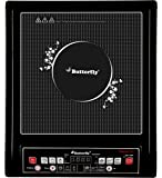 Butterfly Platinum 2.O 1800-Watt Induction Cooktop with Push Button (Black)