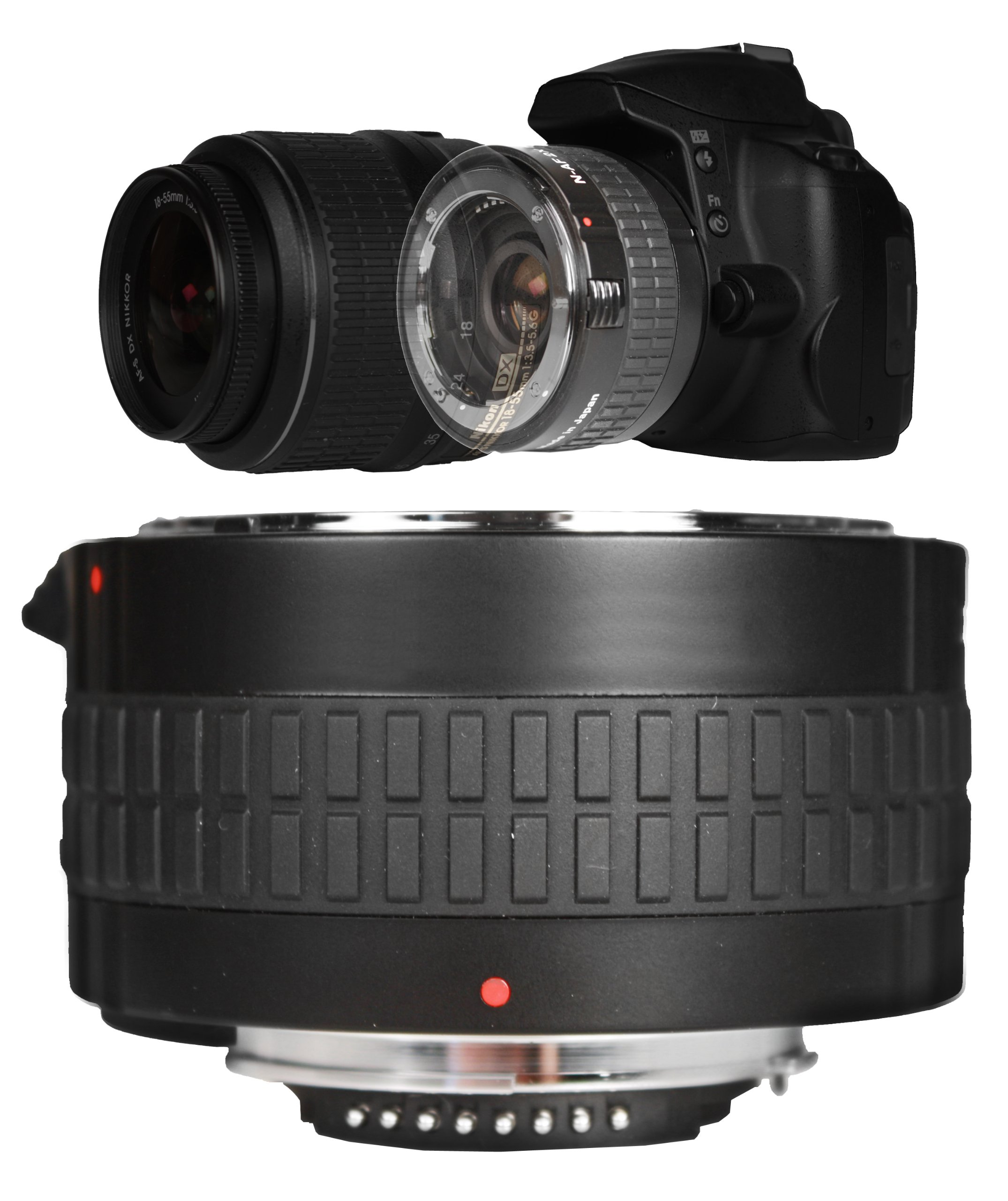 Bower SX7DGC 2x Teleconverter for Canon (7 Element) by Bower Camera