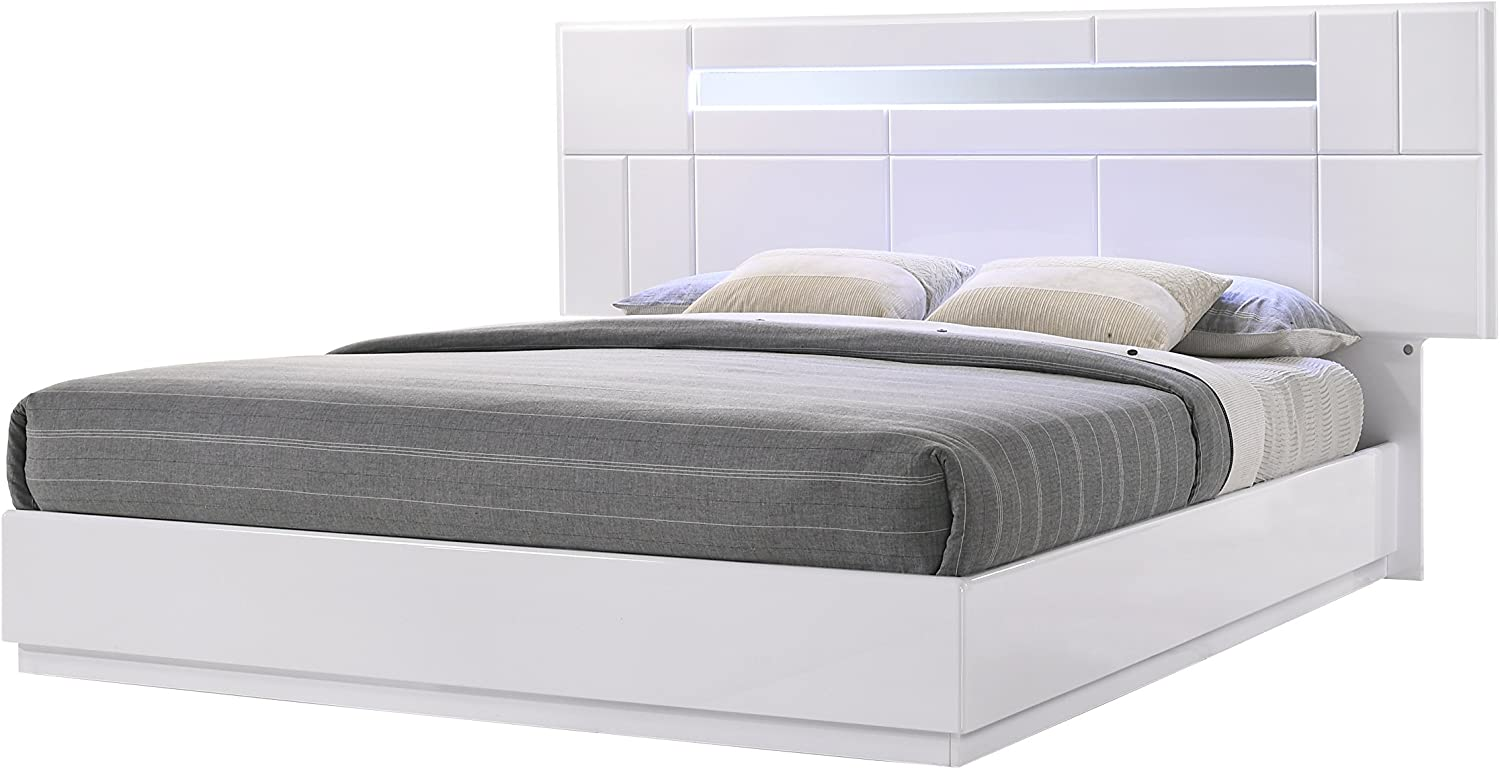 J and M Furniture 17853-K Palermo Bed, King