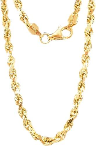 """de 16/"""" a 20/"""" 14k Oro Amarillo 1.5 mm Collar Cadena Fígaro"""