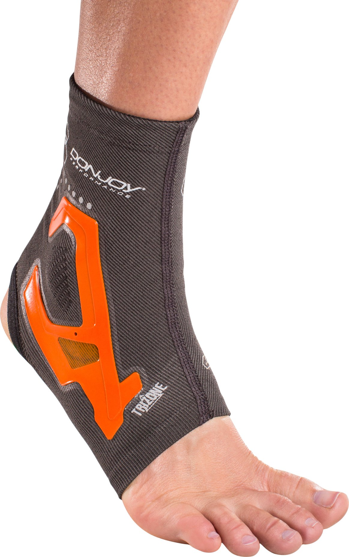 DonJoy Performance TRIZONE Compression: Ankle Support Brace, Orange, Large