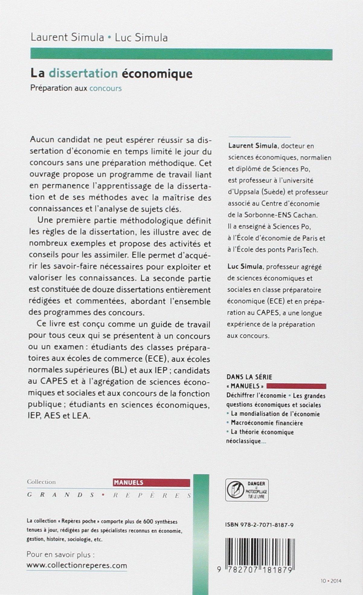 dissertation aehsc corrigé