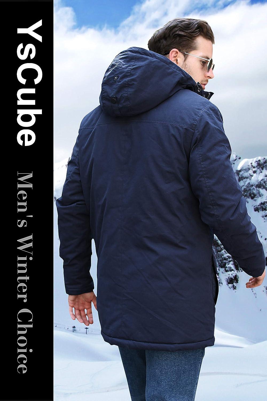 YsCube Mens Winter Warm Parka Abrigos térmicos de Longitud Media con Capucha: Amazon.es: Ropa y accesorios