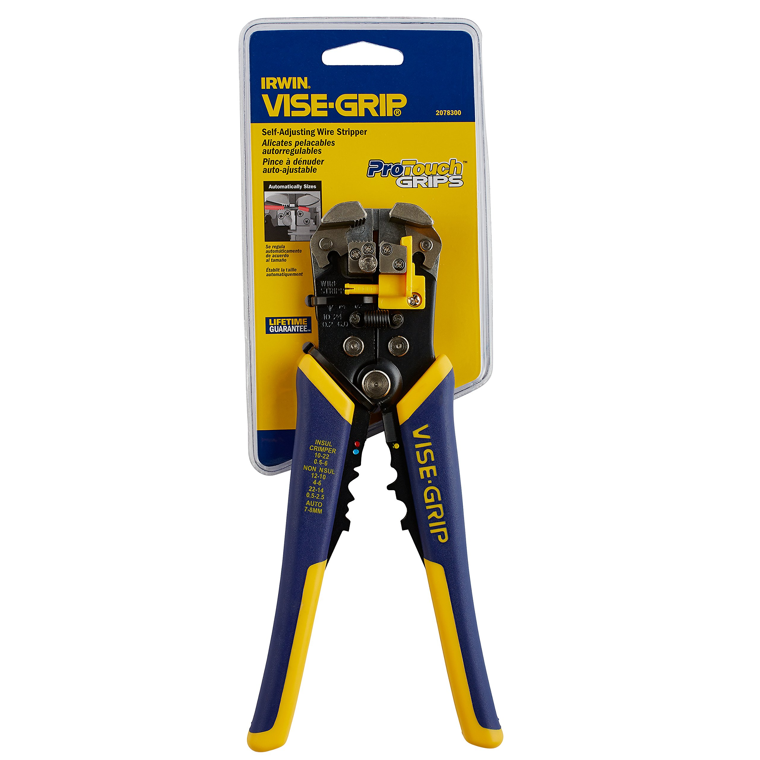 """IRWIN VISE-GRIP 2078300 Self-Adjusting Wire Stripper 8/"""""""