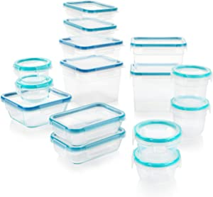 Snapware Total Solution Pyrex Glass and Plastic Food Storage Container Set (30-Piece)