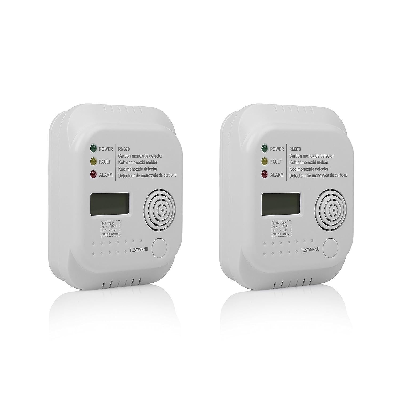 Smartwares 10.100.77 Detector de Monóxido de Carbono, 4.5 V, Blanco, 2 Unidades: Amazon.es: Bricolaje y herramientas