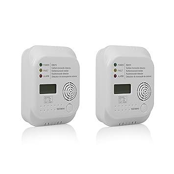 Smartwares 10.100.77 Detector de Monóxido de Carbono 4.5 V, Blanco 2 Unidades: Amazon.es: Bricolaje y herramientas