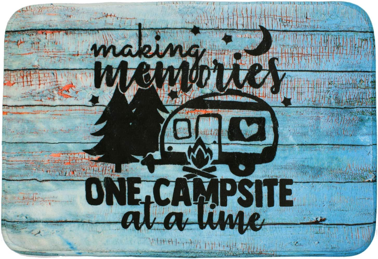 Camper Doormat for Indoor Decor   Cute Birthday Present for Camping Lovers who Travel   Funny RV Camp Gifts   Camping Accessories   One Campsite at A Time