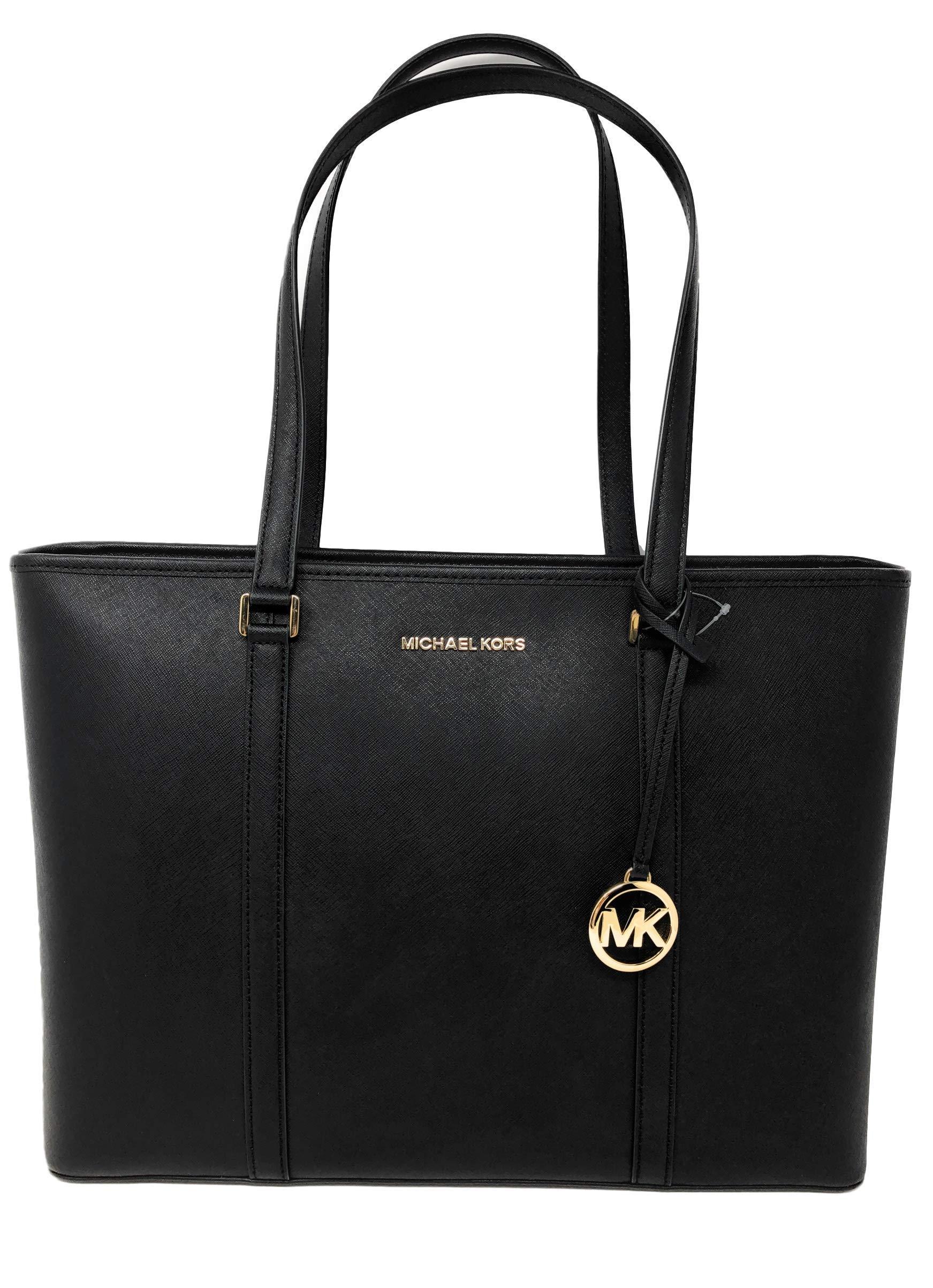 Michael Kors Large Sady Carryall Shoulder Bag (Black) by Michael Kors