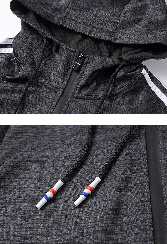 Flygo Mens Full-Zip Hooded Sweatshirt Jacket