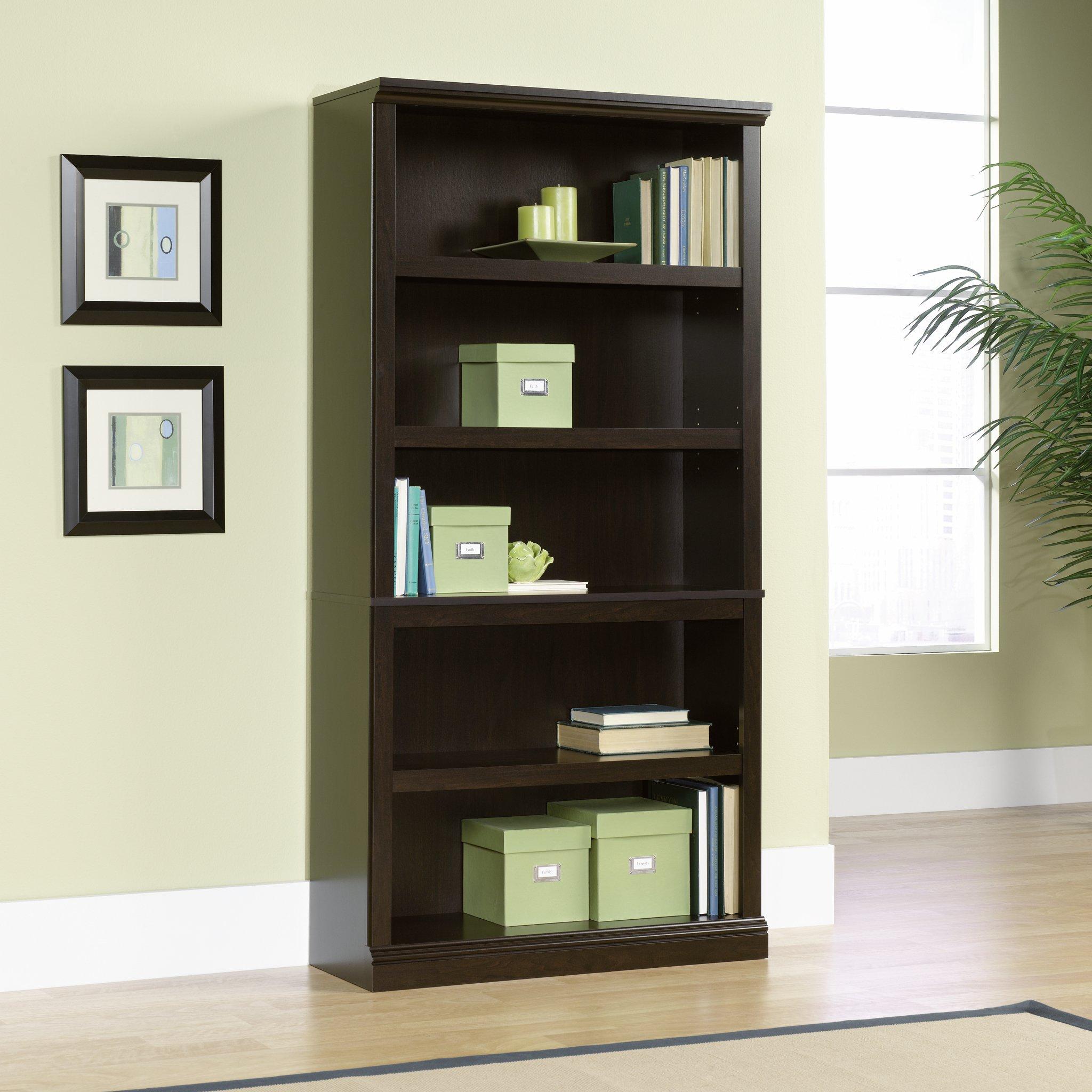 Sauder 5-Shelf Bookcase, Jamocha Wood Finish by Sauder (Image #2)