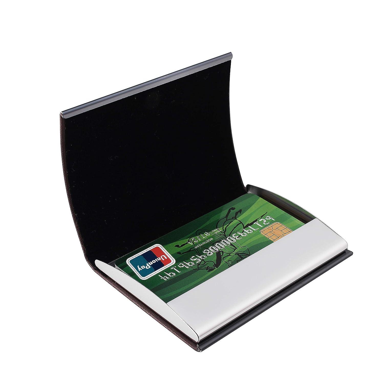 RFID Delgado Billetera de Acero Inoxidable con Tecnolog/ía de Bloqueo RFID Que Protege Tus Tarjetas de Cr/édito y DNI para Tarjetero con 6 Ranuras Ultra Delgad para Hombre y Mujer. Ⅴ#Plata-Acero