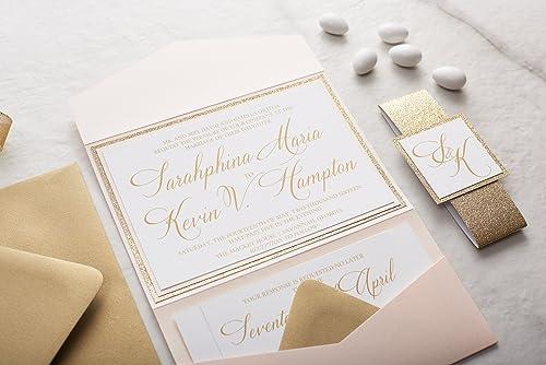 Amazon.com: Custom Fancy Wedding Invitation, Simple Wedding ...