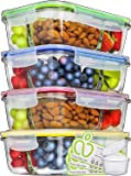 Prep Naturals Glass Meal Prep Containers 3 Compartment - Food Containers Meal Prep Food Prep Containers Lunch Containers…