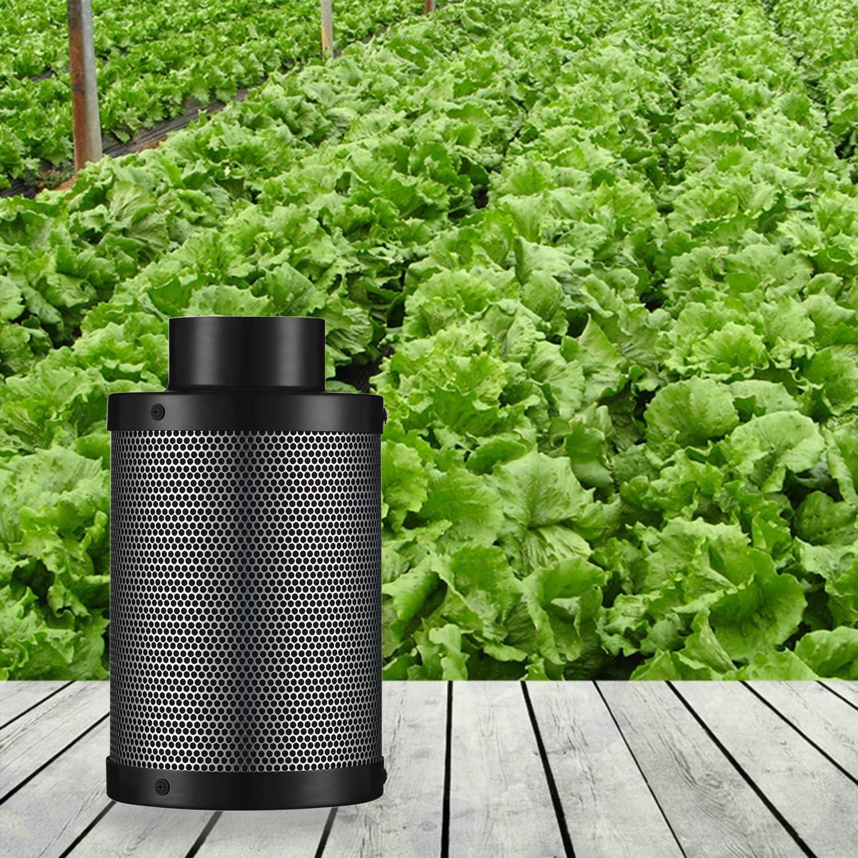 10,2 cm Wachstumszelt /& Inline-Rohrventilator f/ür Hydrokultur-Pflanzen 12,7 cm 15,2 cm Senua Professioneller Geruchskontroll-Luftfilter mit Aktivkohle