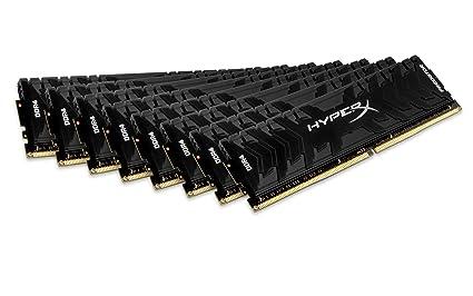 HyperX Predator - Memoria RAM de 128 GB (DDR4, Kit 8 x 16 GB, 3000 MHz, CL15, DIMM XMP, HX430C15PB3K8/128)