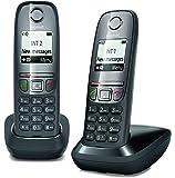 Gigaset As 475 Duo Telefono Cordless, Chiamate tra Interni/Interfono, Rubrica Personalizzabile, Trasferimento di Chiamata, Nero [Italia]