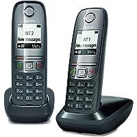 Gigaset AS475 Duo, twee draadloze telefoons, oproepen tussen binnen/intercominstallatie, personaliseerbaar telefoonboek…