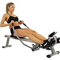 Sunny Health & Fitness Máquina de Remo de Movimiento Completo con Gran Capacidad de Carga, Monitor LCD y Riél de Deslizamiento de Aluminio - SF-RW5727 de