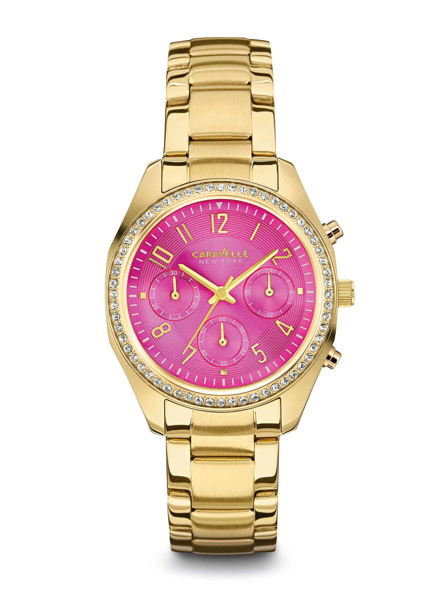 Caravelle New York Women's 44L168 Crystal Chronograph Watch by Caravelle New York