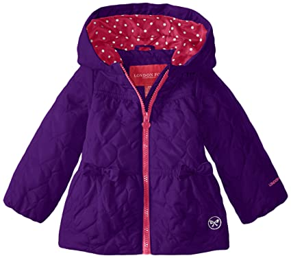 b7bba3ccd0db London Fog Baby Girls Heart Quilted Poly Coat
