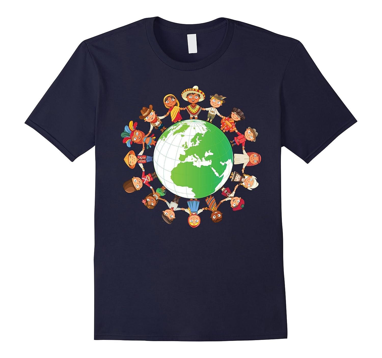 Children Around The World, Happy Earth Day Funny T-Shirt-Art