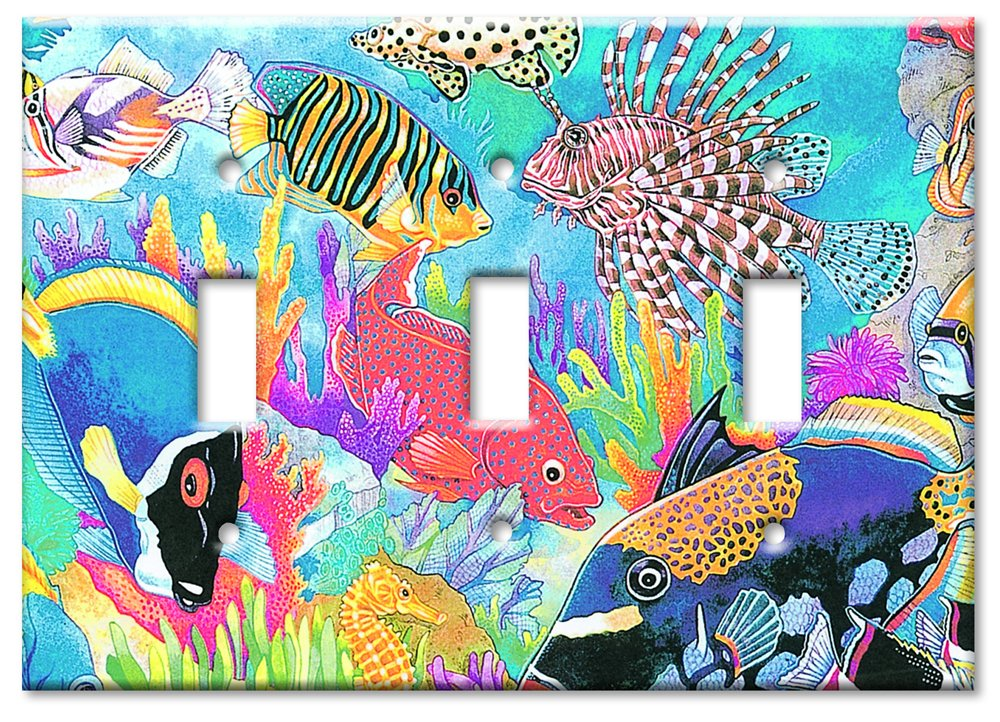 Single Gang Toggle Wall Plate Coral Reef Art Plates 123-S