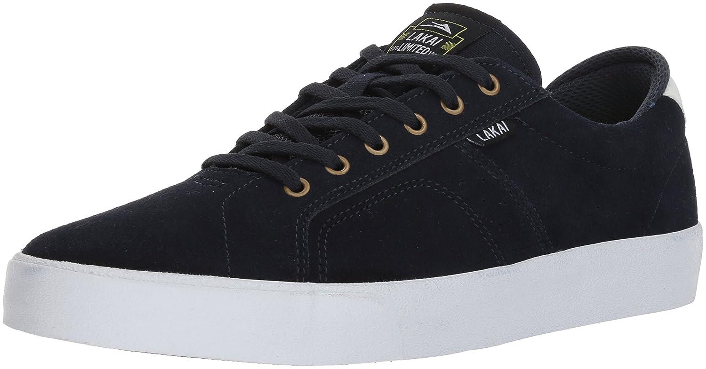Lakai Flaco Skate Shoe B073SP3T3W 9 M US|Navy/White Suede