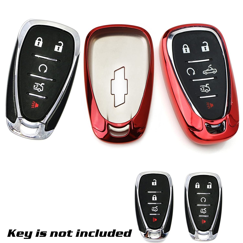 1X Keyless Remote Soft TPU Key Fob Cover Case Black For Chevy Camaro Malibu Cruze Spark Volt Bolt Xotic Tech Direct