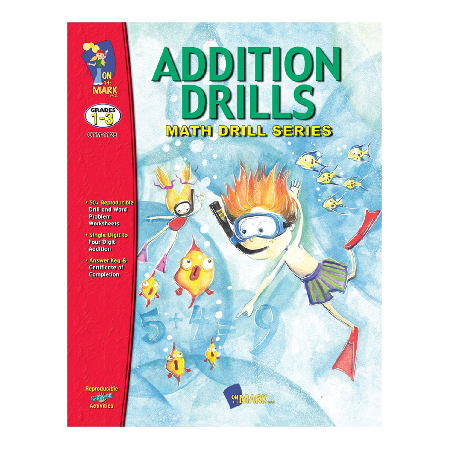Amazon.com: On the Mark Press OTM1128 Math Drill Book Series ...