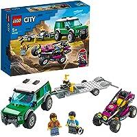 LEGO 60288 City Race Buggy Transporter, Speelgoed Vrachtwagen met Aanhanger en Bestuurbare Raceauto Voor Kinderen van 5…