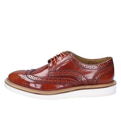 Glänzendem Elegante Schuhe Base Herren Braun London Leder MVqzpGUS