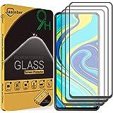 Jasinber 3 Piezas Mica Vidrio Cristal Templado Protector de Pantalla para Xiaomi Redmi Note 9S/Note 9 Pro/Xiaomi Poco X3 NFC