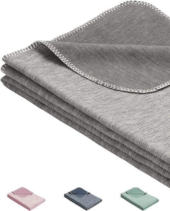 Minky Mooh® Manta de bebé esponjosa hecha de 100% algodón orgánico - manta de algodón de peluche hecha en ALEMANIA. Ideal como manta de bebé, primera manta, edredón o manta de peluche: