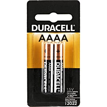 DURACELL SPECIALTY ALKALINE AAAA BATTERIES 1,5V, Pack of 2 General Purpose Batteries & Battery Chargers at amazon