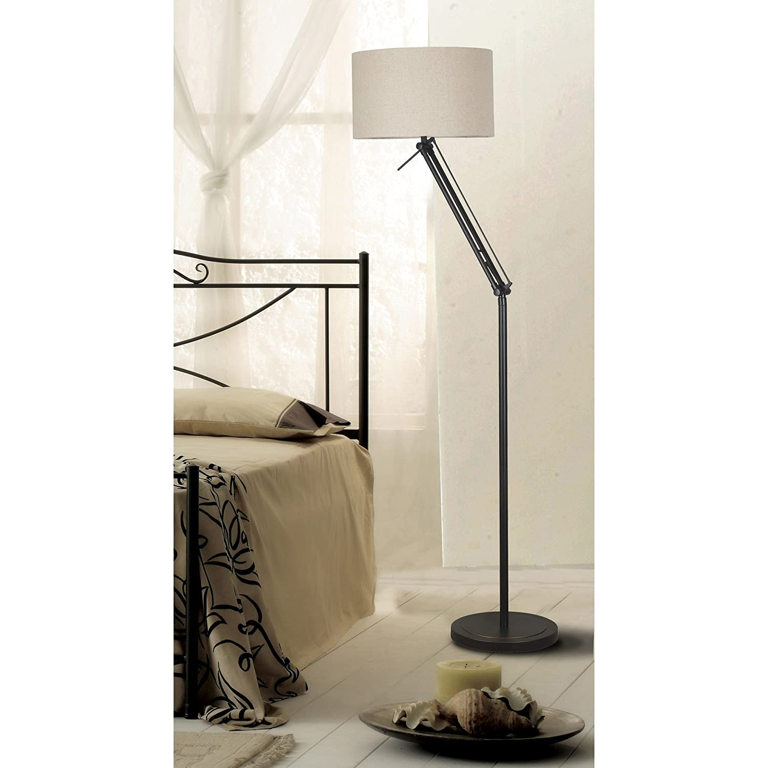 Kenroy Home 20123ORB Hydra Adjustable Floor Lamp With Oil Rubbed Bronze      Amazon.com