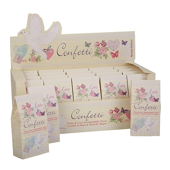1 opinioni per Neviti with love Tissue confetti, carta, avorio, 10x 5x 3cm