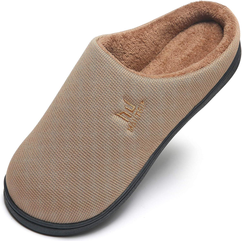 MAIITRIP Men's Cozy Memory Foam House Slippers Non Slip (Size:7-15)