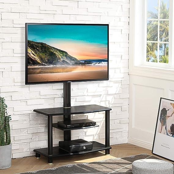FITUEYES Mueble TV con Soporte para Televisión de 32 a 55 Pulgadas hasta 40kg de Peso Soporte de Suelo para TV Plana Curva Giratorio 40° Altura Ajustable VESA MAX 400X400 mm: Amazon.es: Electrónica