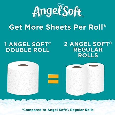 Amazon.com: Angel Soft Toilet Paper, 12 Double Rolls, 12 = 24 ...