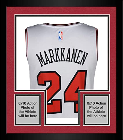 bf4d10037177d1 Image Unavailable. Image not available for. Color  Framed Lauri Markkanen  Chicago Bulls Autographed White Fanatics Fastbreak Jersey - Fanatics  Authentic ...