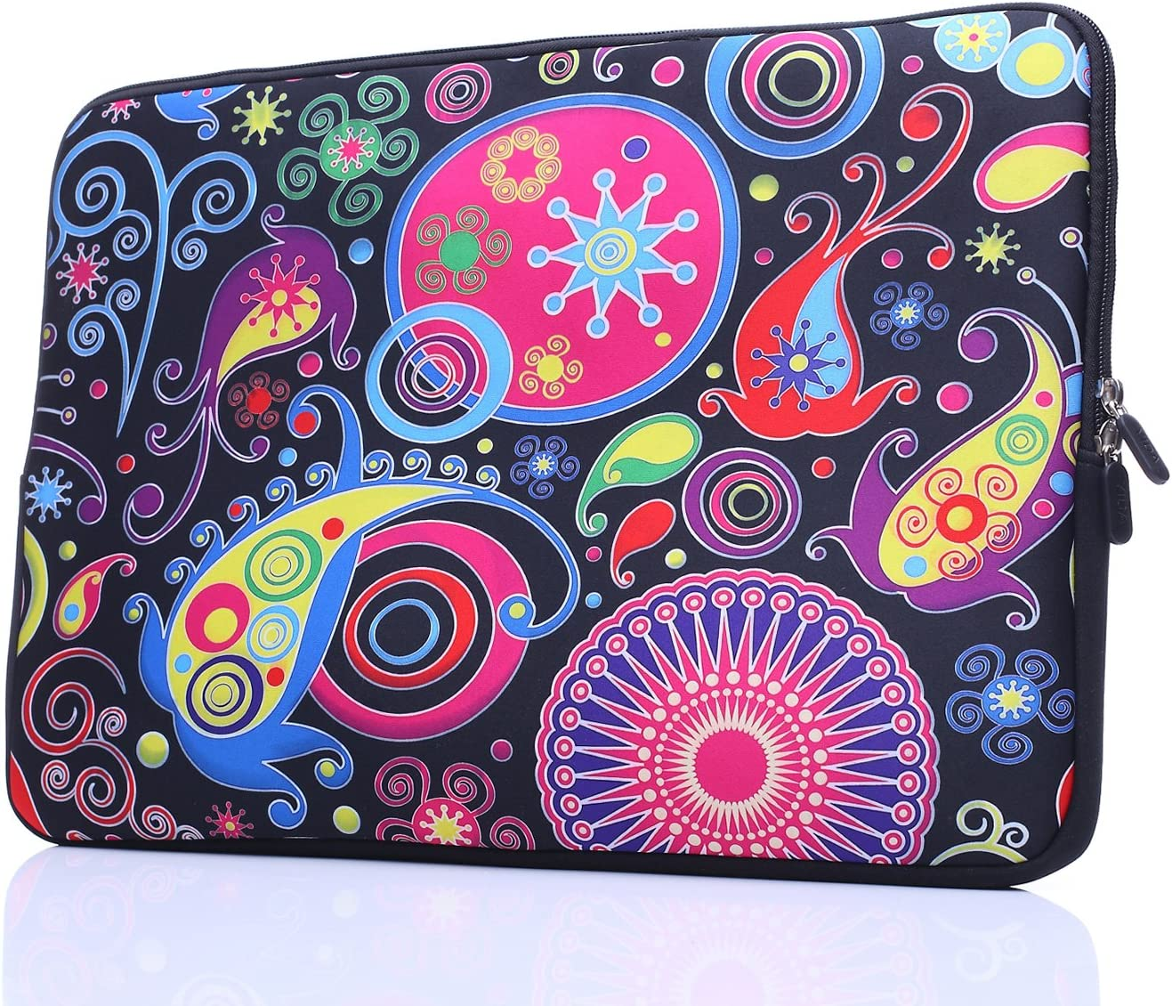 15-Inch to 15.6-Inch Laptop Sleeve Carrying Case Neoprene Sleeve for Acer/Asus/Dell/Lenovo/MacBook Pro/HP/Samsung/Sony/Toshiba, Classic Colorful
