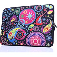 13.3-Inch to 14-Inch Laptop Sleeve Case Neoprene Carrying Bag with Hidden Handles for MacBook/Notebook/Ultrabook/Chromebooks (Classic Colorful)