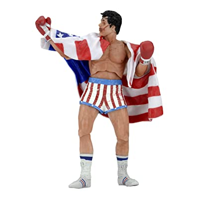 "NECA Rocky 40Th Anniversary Scale Action Figure Series 2 Rocky (American Flag Trunks), 7"": Toys & Games"