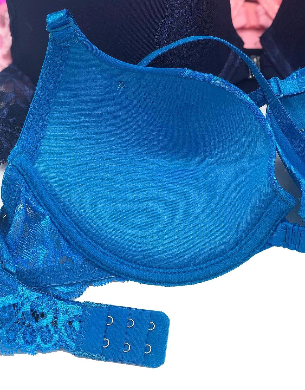 Iheyi 6 pcs Open Front Lace Addiction T-Back Raceback Plain Front Closure Bra B//C