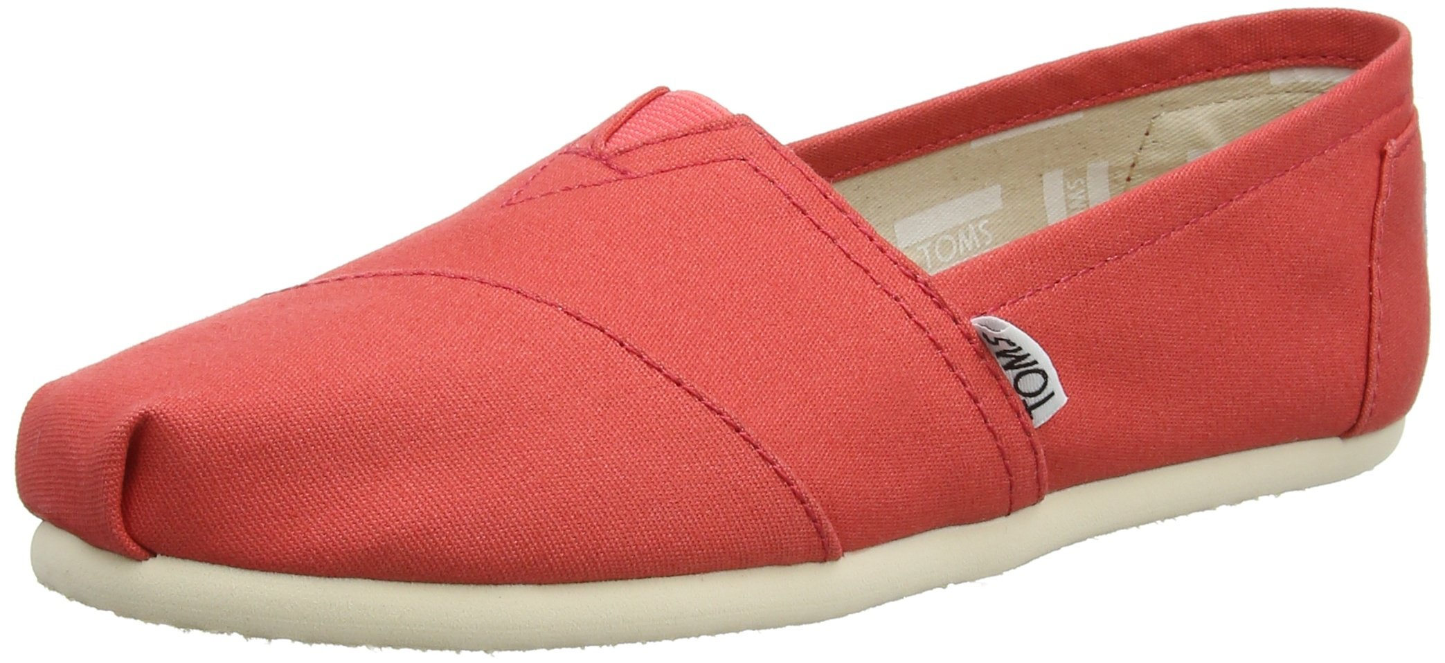 TOMS Women's Canvas Alpargata ESP Espadrilles, Red (Coral), 7.5 UK 41 EU